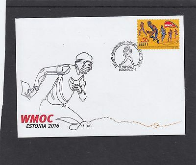 Estonia 2016 Veteran Orienteering Champs First Day Cover FDC Tallin special h/s