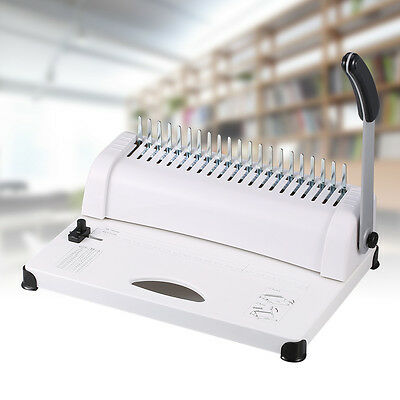 21 Hole Comb Binding Machine 450 Sheets Capacity Punch Binder Book file Pamphlet