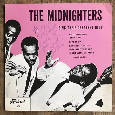 HANK BALLARD & the Midnighters SIGNED LP Autographed Greatest Hits