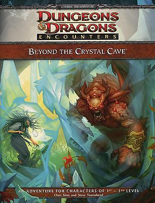 D and D 4th Edition Encounters Beyond the Crystal Cave Module + Bonus Cards.