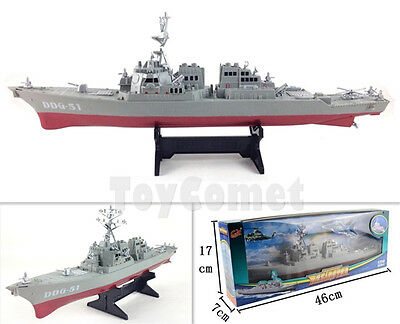 US Navy Guided Missile Destroyer USS Arleigh Burke DDG-51 Ship Display Model Toy