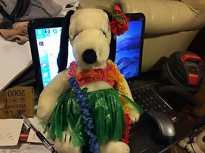 """Vintage 15"""" Belle Snoopy's Sister Plush with Rare Hawaiian Outfit"""