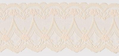 90mm Peach Polyester Lace Edging (x 3 metres)