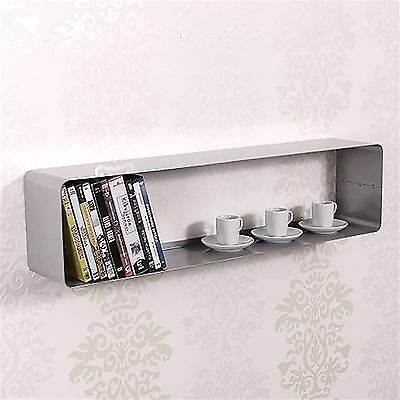 LOUNGE DESIGN DVD & BLU-RAY REGAL CUBE retro metall wand board 80cm silber