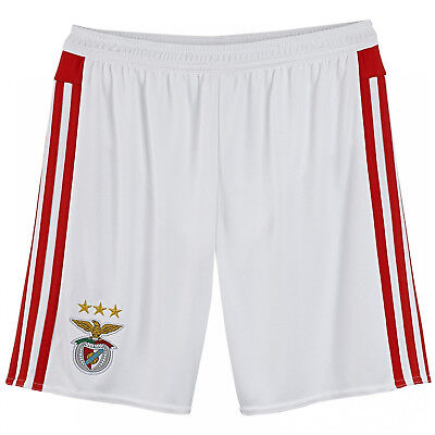 adidas Performance Mens 2015-16 Benfica Football Soccer Home Shorts - White