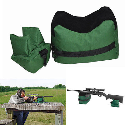 Shooting Gun Rest Bag Set Front&Rear Rifle Target Hunting Bench Bag Sandbag JNEG
