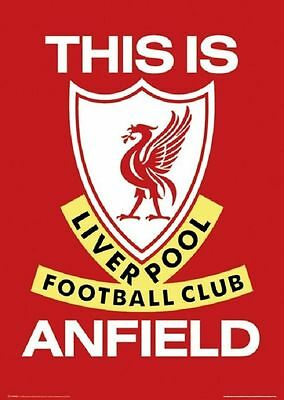 """Liverpool FC Poster """"THIS IS ANFIELD"""" Large size 61 cm X 91.5 cm SOCCER"""