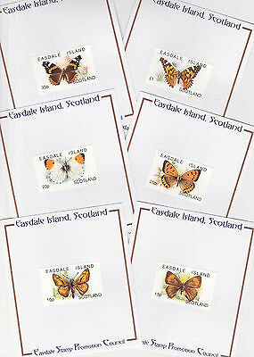 GB Locals - Easdale (239) 1996 BUTTERFLIES complete set of 6 PUBLICITY PROOFS