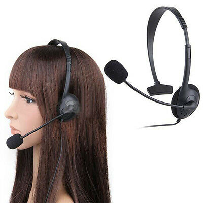 Headset Headphone With Microphone +Volume Control For Xbox One Ps4 Wii U Switch