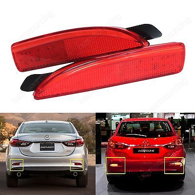 Mazda 2 3 5 6 DY Axela Atenza Rear Bumper Reflector LED Tail Stop Brake Light