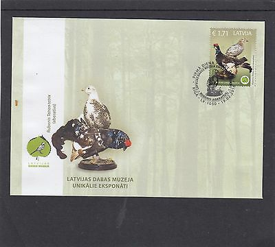Latvia 2015 Museum of Nature Exhibits - Birds FDC Riga pictorial h/s