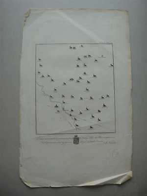 EX NICHOLS  Antique 1807 Map of Leicestershire Churches, Leicester 1807