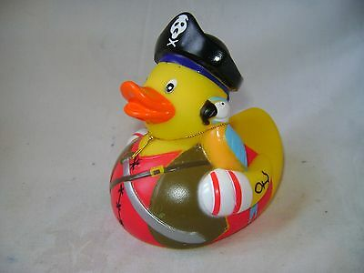 New Large Floating Designer Bath Duck Fun Gift Pirate With Parrot Yarto