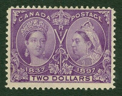 SG 137 Canada $2 deep violet. A fine fresh lightly mounted mint example...