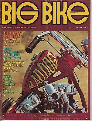 Big Bike Magazine Motorcycle Magazine FEBRUARY 1971 FEB