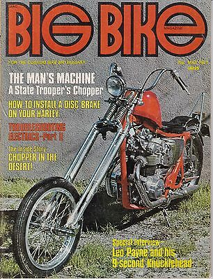 Big Bike Magazine Motorcycle Magazine MAY 1971 MAY
