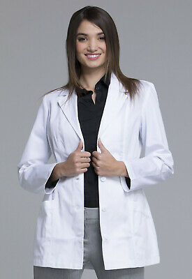 "White Cherokee Fashion Womens 30"" Lab Coat 2316 WHTC"