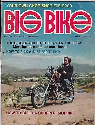 Big Bike Magazine Motorcycle Magazine FEBRUARY 1972 FEB