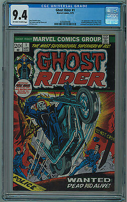 Ghost Rider #1 Cgc 9.4 1St Son Of Satan Off-White-White Pages Bronze Age
