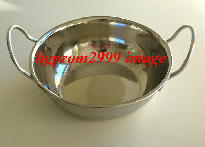 4 x 15CMS BALTI DISH,CURRY BOWLS,KALAI,SERVING DISHES,BOWL,STAINLESS STEEL