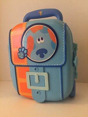 Blues Clues Storage Suitcase Rolling Wheels and Expanding Handle 2002