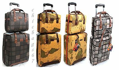Wheeled Cabin Bag Flight Case Trolley Laptop Hand Luggage Light weight Suitcase