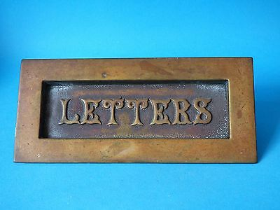 Collectable Antique Solid Brass Door Letter Box Opener 23Cm 730G