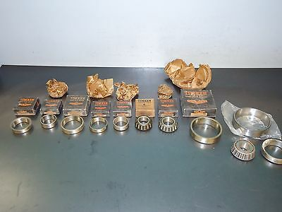 Wholesale Vintage Parts Store Lot of (11) New Timken Tapered Bearings & Races