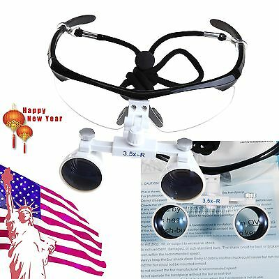 Dental Surgical Medical Binocular Loupes 3.5X 420mm Optical Glass for Dentist HH