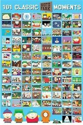 SOUTH PARK ~ 101 CLASSIC MOMENTS 24x36 CARTOON POSTER Southpark NEW/ROLLED!