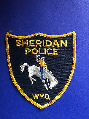 Sheridan Woyming Police Shoulder  Patch  Used