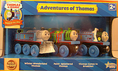 Thomas & Friends Wooden Railway - Real Wood - Adventures Of Thomas 3 Engine Set