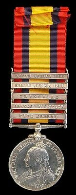 Victorian Queens South Africa Medal 5 Clasps 7Th Hussars