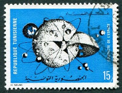 TUNISIA 1971 15m black and blue SG713 used NG Conquest of Space #W2