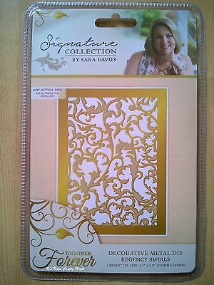 Crafter's Companion Sara Signature Die - Together Forever - Regency Swirls