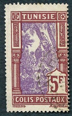 TUNISIA 1926-41 5f violet and chocolate SGP159 used NG PARCEL POST! #W2