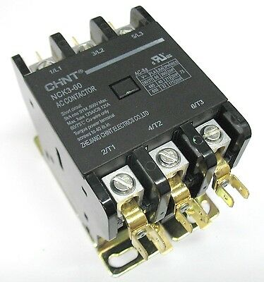 Definite Purpose Contactor HVAC 60 Amp 60A 3 Pole 480V 480 Volt Coil UL Listed