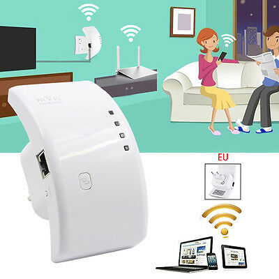 Wifi Booster Repeater Extender Range 300Mbps Wireless AP Router 802.11n EU Plug