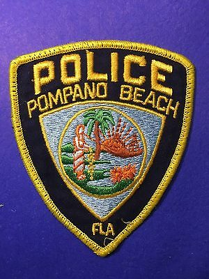Pompano Beach Florida   Shoulder  Patch  Used