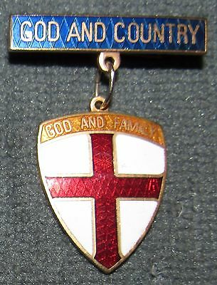 Protestant Cub Scout God and Country God and Family Relgious Award Metal Medal