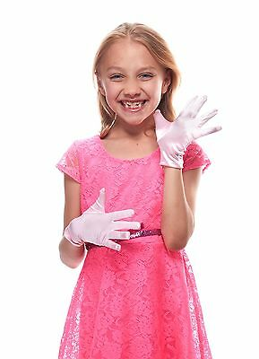 Elegant Ingenue Girl's Satin Wrist Length Gloves