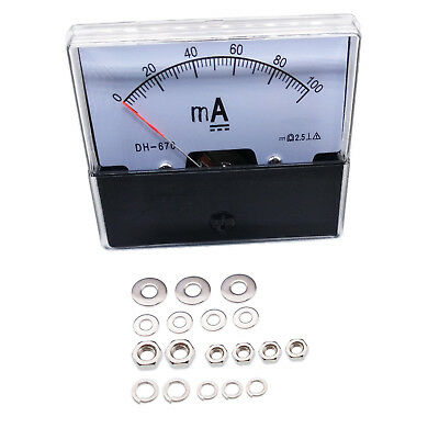 New Analog Panel AMP Current Ammeter Meter Gauge DH-670 0-100mA DC