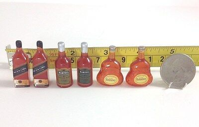 Dollhouse Miniature Store/Food/Home/Drinks Hot Liquor Alcohol Bottle 6pcs 1:12