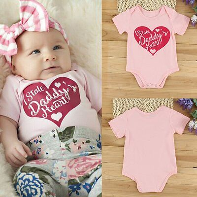 Newborn Infant Baby Boy Girl Cotton Romper Jumpsuit Bodysuit Kids Clothes Outfit
