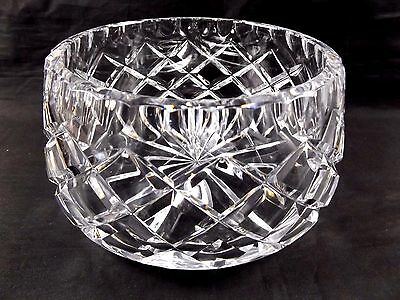 Vintage Quality Lead Crystal Tapered Glass Bowl ~ Thick Heavy Wall Pressed
