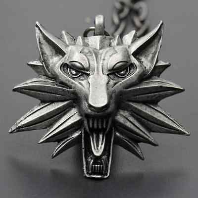The Witcher 3 III Wild Hunt Wolf Medallion Pendant Cosplay Accessories Jewelry
