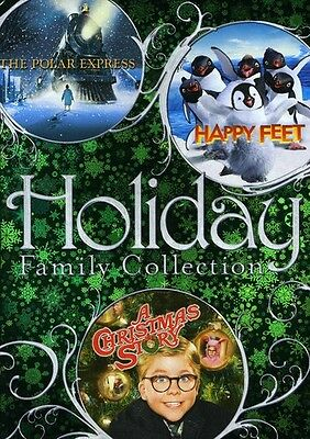 Holiday Family Collection: The Polar Express/Happy Feet (2009, REGION 1 DVD New)
