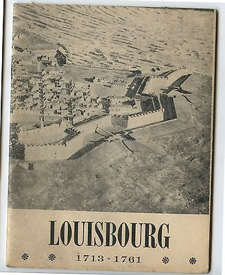Old 1946 Booklet Louisbourg 1713-1761 by Katherine McLennan