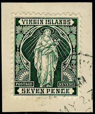 Sg48, 7d deep green, FINE used. ON PIECE.
