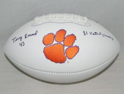 Terry Kinard Signed Autographed Clemson Tigers Logo Football W/ 81 Natl Champs